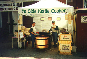 Ye Olde Kettle Cooker tent set up